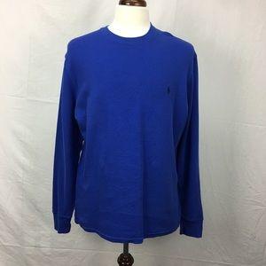 Polo Ralph Lauren Blue LS Thermal Shirt